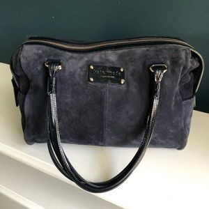 Kate Spade Blue Suede and Patent Satchel